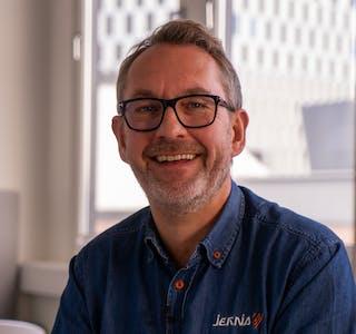 Adm.direktør i Jernia, Espen Karlsen har stort fokus på kunder og bærekraft.