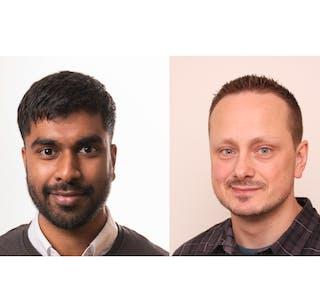 Sivakumar Sivananthan og Tommy Kamhaug Hopmoen er teamledere ved Kontaktsenteret i Oslo kommune.