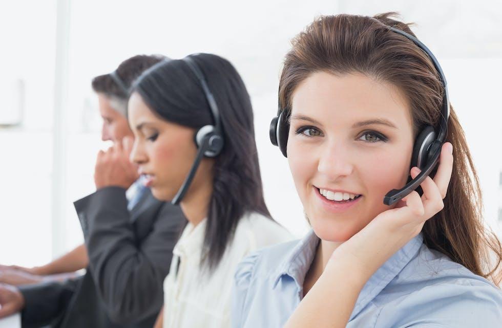 Mange kundesentre opplever økning i antall telefoner.