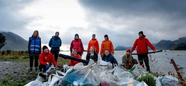 Pandemien satte ingen stopper for ryddeåret 2020. Over 4100 ryddeaksjoner ble gjennomført, og 1400 tonn søppel ble fjernet langs vårt vidstrakte land. Foto: Hold Norge Rent.