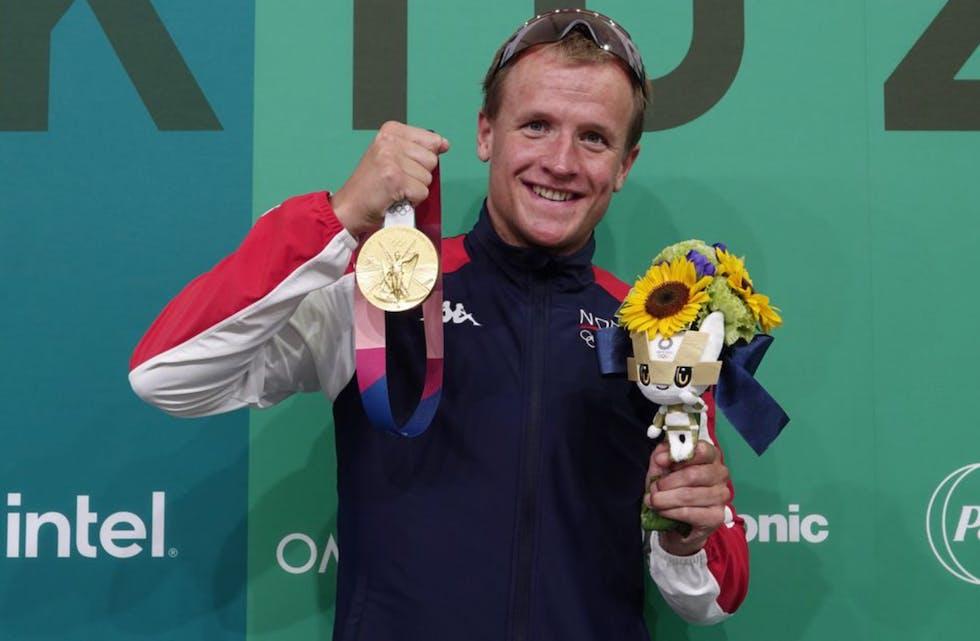 Med gullmedaljen i triatlon fra OL i Tokyo har Kristian Blummenfelt nådd et av sine store mål. Foto: Geir Owe Fredheim.