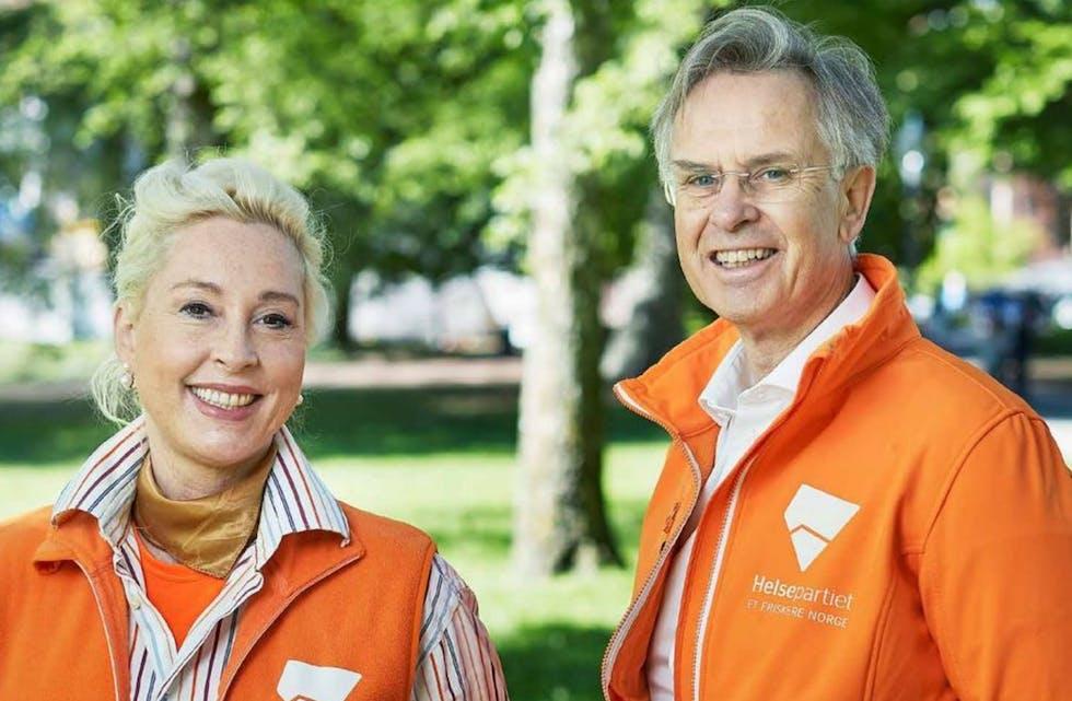 Helsepartiets leder Erik Hexeberg og grunnlegger Lise Askvik er å møte i Helsepartiets digitale valgbod.