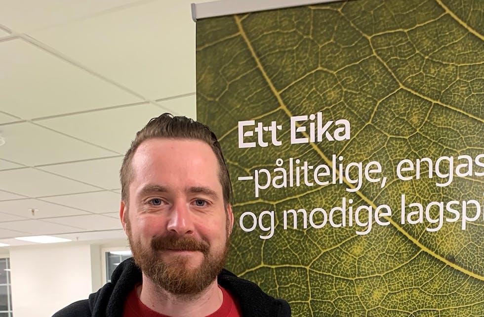 Thomas Grim Thorvaldsen er kunderådgiver i Eika Kundesenter på Gjøvik.