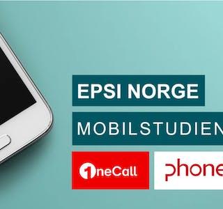 Bilde fra EPSI. Kundeserviceavisen har satt inn logoene til OneCall som vinner i privatmarkedet og Phonero beste større aktør i bedriftsmarkedet.